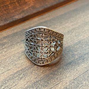 Premier Designs Vintage-Style Silver Jada Ring
